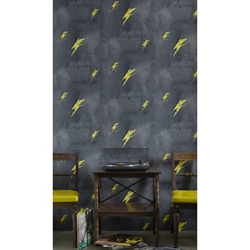 Barneby Gates - Bolt From Mars - Yellow on Charcoal - Set Shot