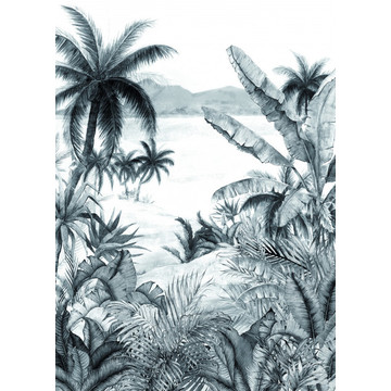 Tropical Morning Black/White BLD 22781 (paneeli)