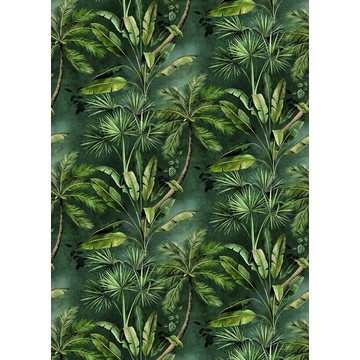 Secret Garden Dark Green BLD 22782 (paneeli)