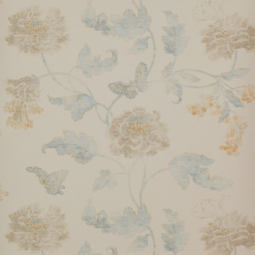 Poppy & Butterfly Blue/Cream 07952/06