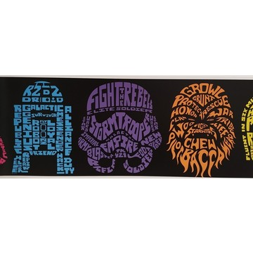 Star Wars Neon Head Border 101386