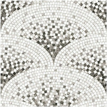 Black Art Deco Mosaic 8888-87 (paneeli)