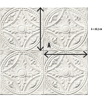 8888-T121 white-medallion-tin-tiles info