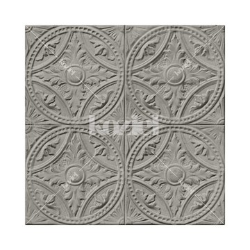 8888-T122 gray-tin-tiles-medallion