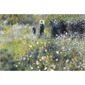 Woman in a Garden - Pierre Auguste Renoir MS-5-0256