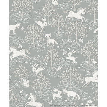 Fairytale Fox Dusty Blue 1467