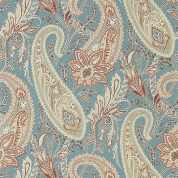 Cashmere Paisley Teal/Spice 216322