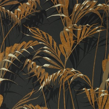 Palm House Charcoal/Gold 216641