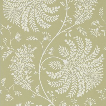 Mapperton Garden Green/Cream 216340