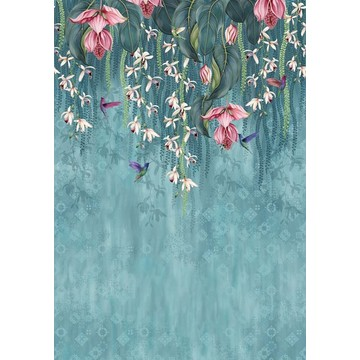 Trailing Orchid Teal/Pink W7334-01