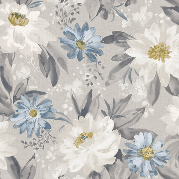 Painted Dahlia Blue/Grey 676105
