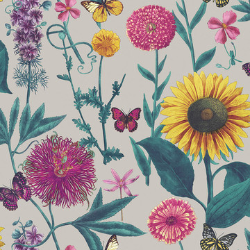 Summer Garden Grey/Multi 676204