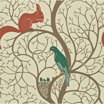 Squirrel & Dove Teal/Red DVIWSQ102