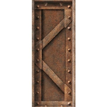 Lattice Rusted Steel Beam - leveä boordi 8888-255