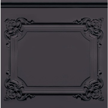 Charcoal grey/black Louis XV panelling 8888-302