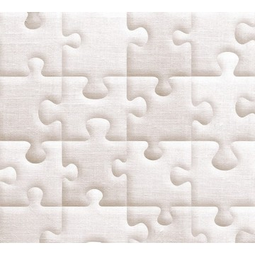 Raw jute-fabric giant puzzle 8888-151