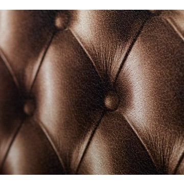 Chocolate brown tufted leather 8888-03