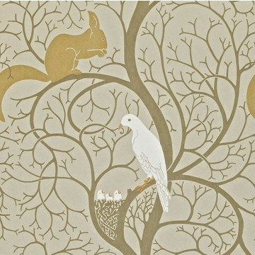 Squirrel & Dove Linen/Ivory DVIWSQ101