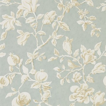 Magnolia & Pomegranate Grey Blue/Parchment 215724