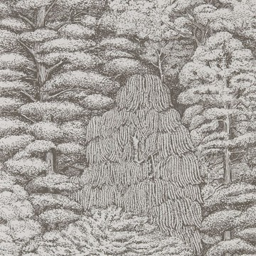Woodland Toile Ivory/Charcoal 215716