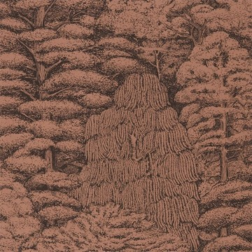 Woodland Toile Copper/Charcoal 215719