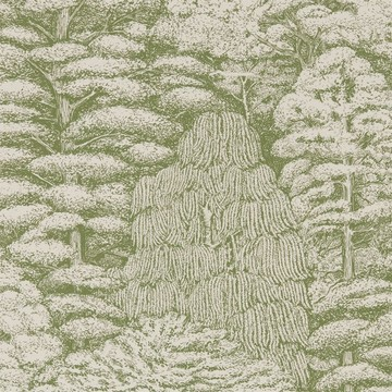 Woodland Toile Cream/Green 215720