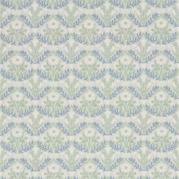 Morris Bellflowers Grey/Fennel 216435